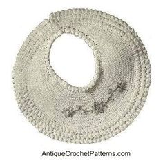 Crochet Baby Bib - Vintage Bib Pattern