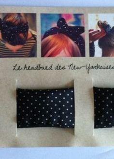 A vendre sur #vintedfrance ! http://www.vinted.fr/accessoires/accessoires-de-cheveux/15948414-headband-des-new-yorkaises-noir-a-pois-blancs