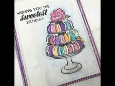 Videos – Page 10 – Simply Cardmaking with Laurel Beard The Ton Stamps, Watercolor Cards, Colouring, Macarons, Cardmaking, Markers, Paint Colors, Tutorials, Gardening