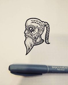 """""""The old boat builder"""" What do you think about new episodes of Vikings? """"The old boat builder"""" What do you think about new episodes of Vikings? """"The old boat builder"""" What do you think about new episodes of Vikings? Viking Head, Viking Art, Armor Tattoo, Norse Tattoo, Head Tattoos, Sleeve Tattoos, Tattoo Ink, Viking Drawings, Doodle Drawing"""