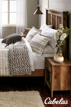 Outdoor-inspired bedding for every outdoorswoman.