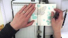 Video tutorial - flip card using Stampin' Up!'s Butterflies Thinlits Dies. Bedlam & Butterflies Tracy May