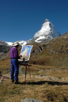 painting the Matterhorn