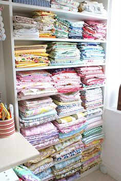 A beautiful craft room and a fabric stash that makes me drool.