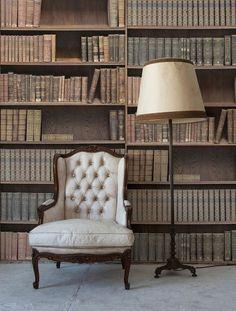 壁紙サンプル(A4サイズ): Kemra Bookshelf / KEM041W   輸入壁紙専門店 WALPA