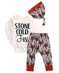 Cheap baby long sleeve, Buy Quality infant baby directly from China baby boy outfits newborn Suppliers: 3 Pcs Newborn Baby Kids Girl Boy Outfit Set Infant Babies Long Sleeve Letter Bodysuit Tops+Fox Pants+Hat Outfits Sets Clothing Long Romper, Romper Pants, Long Sleeve Romper, Outfits With Hats, Baby Boy Outfits, Bodysuit Tops, Baby Girl Newborn, Baby Girls, Leggings
