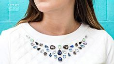 DIY gem  detail   neckine