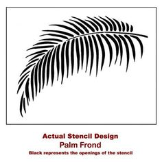 Palm Frond Stencil - Tropical Wall Art Design for an Easy and Quick Room Transformation - Better than Decals - DIY Home Decor sold by Cutting Edge Stencils on Storenvy Stencil Wall Art, Wall Stencil Patterns, Wallpaper Stencil, Leaf Stencil, Stencil Designs, Diy Wall Art, Wall Art Designs, Wall Design, Design Design
