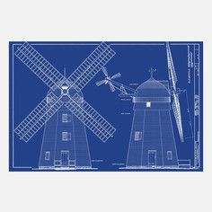 Beebe Windmill Elevations, $49, now featured on Fab.