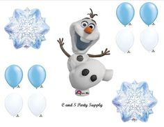 Frozen Olaf Snowflakes Disney Movie BIRTHDAY PARTY Balloons Decorations Supplies:Amazon:Everything Else