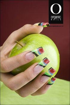 Organic® Nails Uñas Color Neon, Organic Nails, Edge Nails, Acrylic Gel, Beautiful Nail Designs, Stiletto Nails, Nail Tech, Nail Artist, You Nailed It
