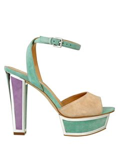 Sexy High Heel Shoes: GUESS Barta Color-Blocked Platform Sandals: Shoes.... I have these shoes in black and white. Why didn't I know they came like this?!?