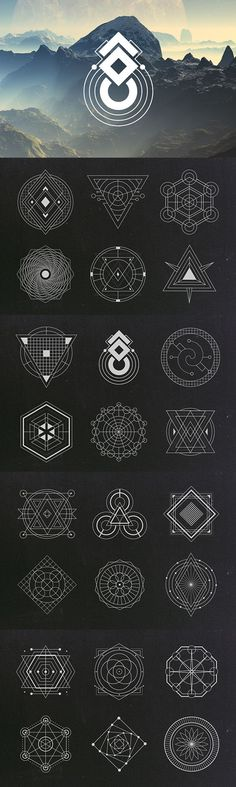 Sacred Geometry Vectors | Graphic Design Elements | Geometric Vector Clipart Images | Blog Graphics | Web Design | Branding Niche | Blogging | Business | Art: