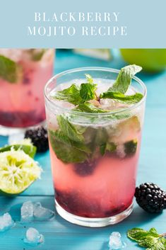 Need a refreshing drink to enjoy your weekend! then check this Blackberry Mojito Recipe.