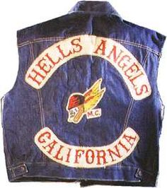 "Hell's Angels jacket, 1960s  This denim jacket was worn by a member of the notorious Hell's Angels motorcycle gang, which mingled and occasionally clashed with the hippie counterculture of San Francisco during the 1960s. In 1989 this jacket arrived at the Smithsonian with a letter: ""The enclosed . . . is an authentic jacket owned by Hairy Henry or Hank as he was more commonly called."