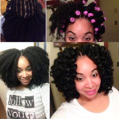 Crochet braids with Marley hair! #protectivestyle