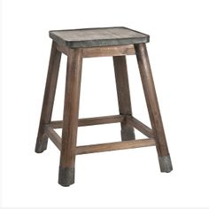 Dylan Stool With Galvanized Seat