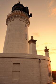 Sunset at Noss Head lighthouse, Wick, Caithness, Scotland North Highlands, North Coast 500, Light House, Biking, Scotland, Wanderlust, Explore, Sunset, Lighthouse