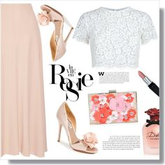 Lace Crop Top by christinacastro830 on Polyvore featuring polyvore, fashion, style, Keepsake the Label, The Row, Badgley Mischka, New Look, Isadora, Dolce&Gabbana and Whiteley