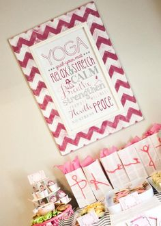 Mother & Daughter Yoga Party via Kara's Party Ideas karaspartyideas.com #pink #yoga #party #ideas