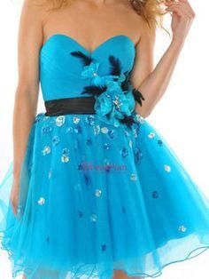 Vestidos Para Damas De 15 | Hielo Azul corto de tul vestido de novia formal para damas de honor ...