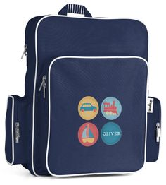 Personalised Large Backpack (Blue) ~ tinyme.com.au