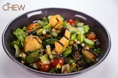 Daphne Oz's Grilled Cantaloupe and Vegetable Salad #TheChew