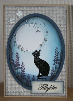 Handmade by Ann Baird. Cat Cards, Greeting Cards, Lavinia Stamps, Family Birthdays, Card Io, Animal Cards, Distress Ink, Big Shot, Crazy Cats