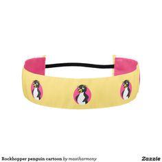 Rockhopper penguin cartoon athletic headbands