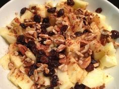 Apple Dessert!  Perfect healthy late night snack to help that sweet tooth.