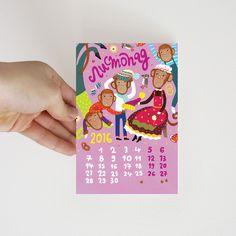 "Set of 12 postcards ""Funny monkey"" on Behance #postcrossing #post #card #postcard #monkey #newyear #открытка #посткроссинг #обезьяна #ноябрь #осень #вязание #веселье #autumn #november #knitting #fun"