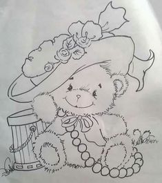 pinturas em fraldas marcia sueli - Pesquisa Google Colouring Pics, Coloring Book Pages, Tole Painting, Fabric Painting, Drawing For Kids, Art For Kids, Bear Art, Cute Bears, Animal Paintings