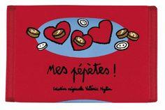 Porte-monnaie Mes pépètes - Rouge - Derrière la Porte - DLP - Sac et Chariot de courses/Portefeuille et porte-monnaie fantaisie - espritlogi...