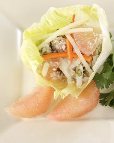 minced meat, crab, and grapefruit vietnamese salad...maybe minus the minced meat?