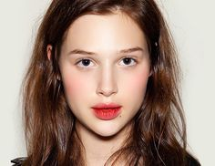 You can also use a lip liner, like makeup artist Lucia Pieroni used on model Anais Pouliot at the Giles S/S 12 runway show, above. Pieroni used a combination of M.A.C.'s Lip Pencils ($15) in Brick and Burgundy.