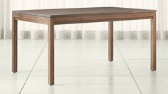 Parsons Walnut Top/ Elm Base Dining Tables   Crate and Barrel