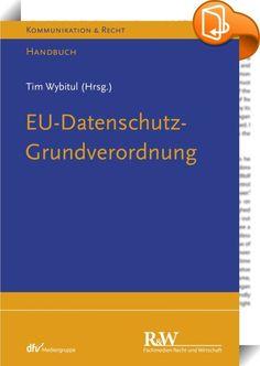 EU-Datenschutz-Grundverordnung    :  Ab Mai 2018 ersetzt die EU-Datenschutz-Grundverordnung (DSGVO) die bislang in Europa geltenden Regelungen zum Datenschutz. Das neue Datenschutzrecht gilt dann in allen EU-Mitgliedsstaaten unmittelbar und direkt. Unternehmen müssen sich bei Transparenzpflichten, Dokumentation, Verantwortlichkeit und Haftung auf umfassende Veränderungen einstellen. Bei Fehlern drohen Bußgelder von bis zu 20 Millionen Euro – für Unternehmen können sogar bis zu 4 Prozen...