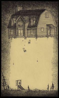 John Kenn makes fantastically creepy art on post-it notes. Arte Horror, Horror Art, Don Kenn, Post It Art, Monster Drawing, Monster Art, Illustration Art, Illustrations, Arte Obscura
