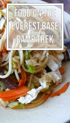 What do you eat on the Everest Base Camp trek?