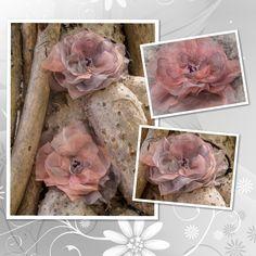 Набор из шифоновых пионов: заколка на волосы и брошь. Фивон, бисер. 20$  Set from two chiffon peony: hair tie and brooch. Chiffon, beads.20$  for.soulmade@gmail.com  #handmade #flowersfromfabric #fabricflowers #hairtie #hairband #brooch #хендмейд #цветыизткани #канзаши #заколка #резинкадляволос #брошь