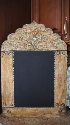The Roman Kitchen Chalkboard - Rustic Old World Style Chalkboards - BLOG http://zeezeechalkboards.blogspot.ca