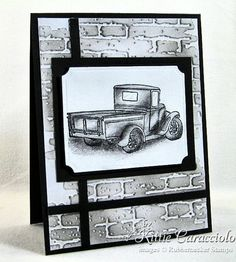 pencil shaded masculine card by Kittie Caracciolo