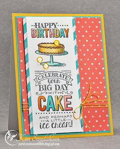 Cake and Ice Cream from Joyful Creations with Kim. Stamps and paper by Stampin' Up. #stampinup