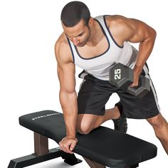 Shop for SteelBody Flat Black Steel Weight Bench. Get free delivery On EVERYTHING* Overstock - Your Online Sports & Fitness Store! Home Gym Bench, At Home Gym, Weight Cage, Weight Training, Weight Lifting, Weight Benches, Cardio Routine, Workout Session, Big Muscles