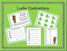 lucky contractions freebie