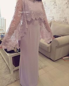 Elegant Long Mother Of The Bride Dresses With Lace Wrap New Lady Wedding Party Gowns Women Evening Formal Wear Dress Brokat, Kebaya Dress, Kebaya Brokat, Abaya Fashion, Muslim Fashion, Fashion Dresses, Kebaya Muslim, Muslim Dress, Hijab Dress Party
