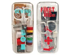 "Mom's not going to be around when a paper cut won't stop bleeding, or you get a hole in your jeans! These pocket-sized kits have all you need for DIY fashion and (minor) medical ""emergencies."" Mini 1st Aid & Sewing Kits Gift Set, $13.98, containerstore.com   - Seventeen.com"