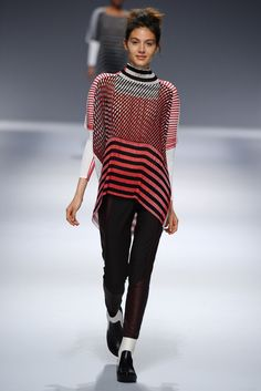 Issey Miyake RTW Fall 2013, #5 / I don't care for the Michael Jackson pants/socks thing, but this top is killer