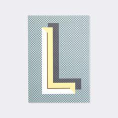 Letter L Bau Deco Alphabet Letter Poster