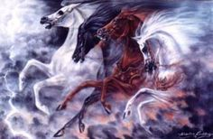 The horses are also the first four seals, but these, unlike the other judgments, will last the entire seven-year tribulation period. – Revelation 6:1-8